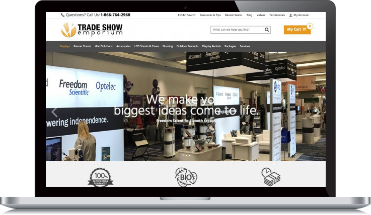 Desktop Screenshot of Trade Show Emporium