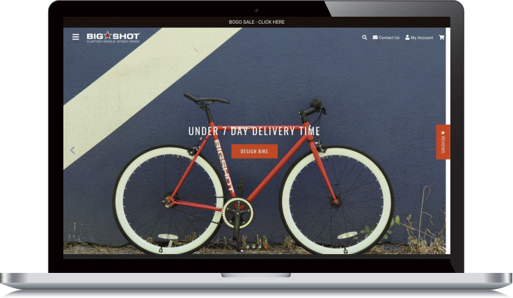 Desktop Screenshot of Big Shot Bikes