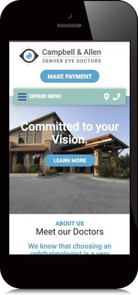 Mobile Screenshot of Campbell & Allen: Denver Eye Doctors