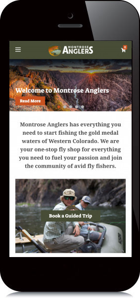 Mobile Screenshot of Montrose Anglers