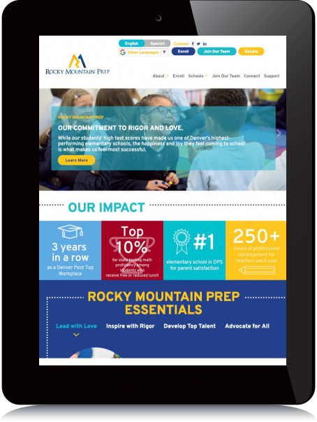 Tablet Screenshot of Rocky Mountain Prep