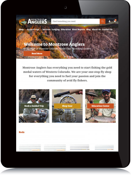 Tablet Screenshot of Montrose Anglers