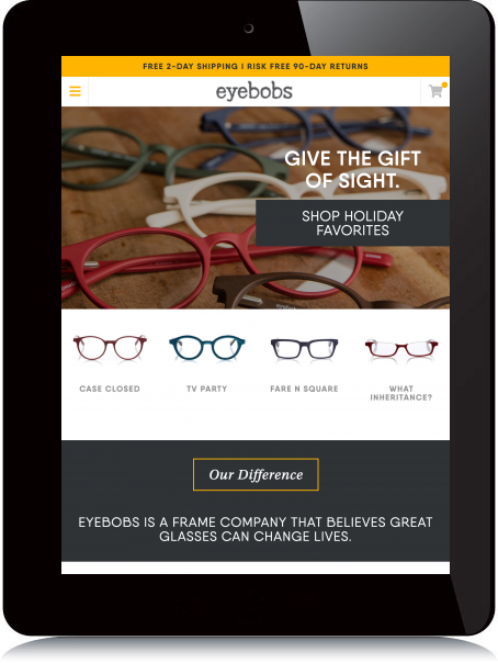 Tablet Screenshot of Eyebobs