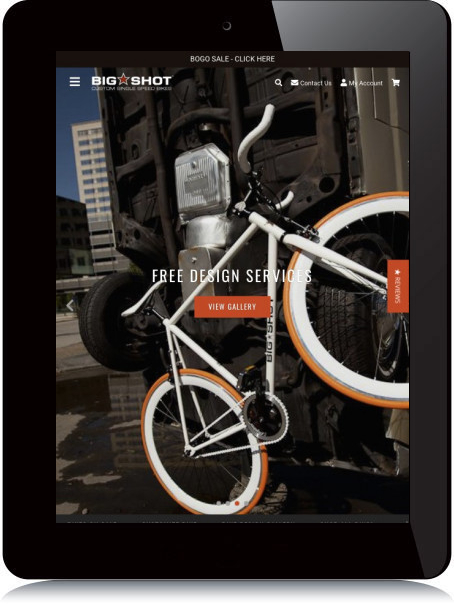 Tablet Screenshot of Big Shot Bikes