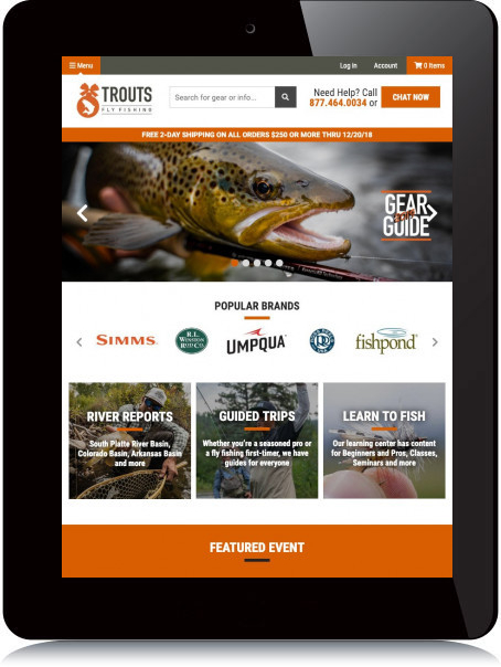 Tablet Screenshot of Trouts Fly Fishing